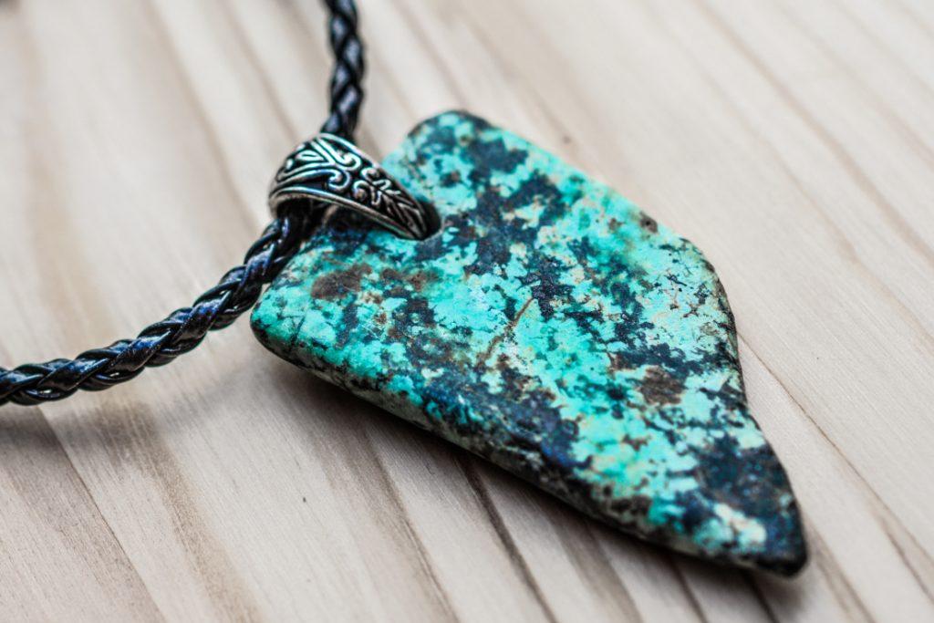 Handmade jewelry - stone pendant