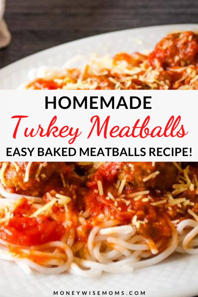 These easy baked ground turkey meatballs are a healthy, simple, and delicious meals that the whole family will love! Baked meatballs are great for with your favorite Italian recipes!