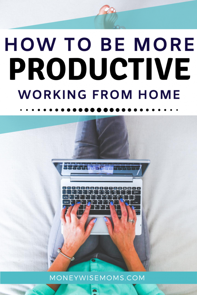 Woman working on laptop while on bed. Tips to be more productive while working at home