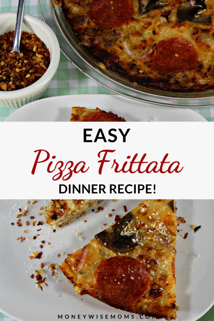 This easy pizza frittata recipe is great for dinner! It's a simple recipe that is flavorful, indulgent, and family friendly!
