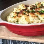 Featured image showing the finished cauliflower au gratin ready to serve.