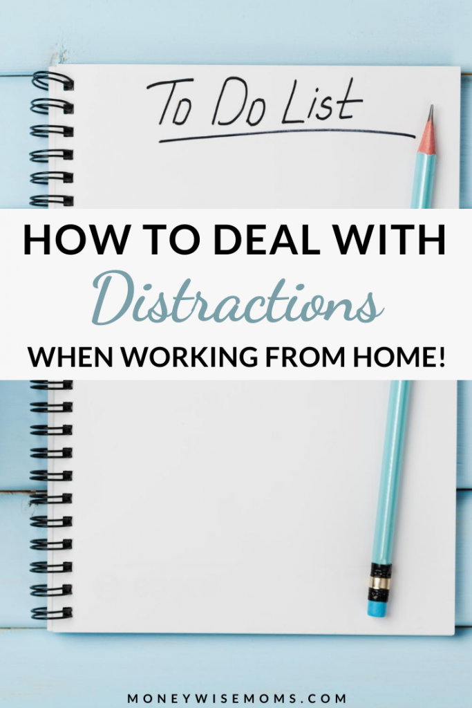 pen on notebook - work at home tips to deal with distractions