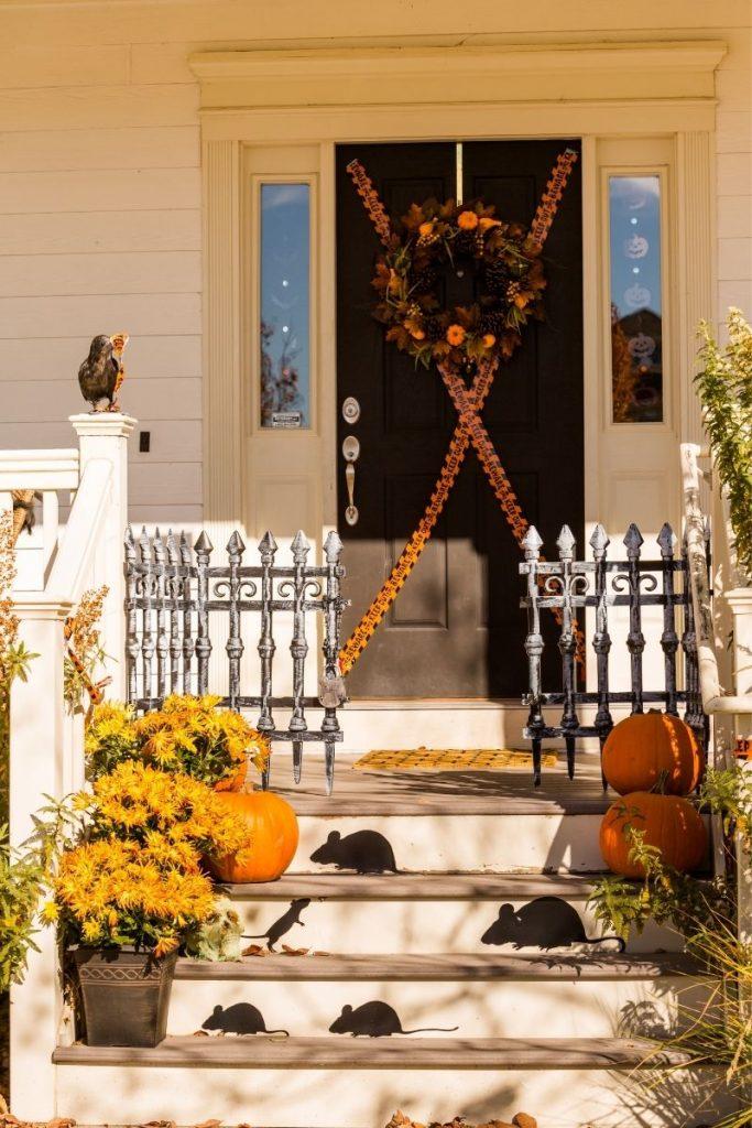 Halloween themed porch