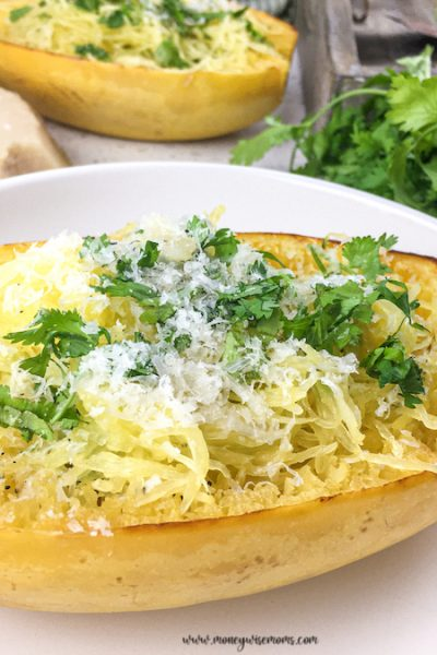 Roasted Spaghetti Squash with Parmesan and Parsley