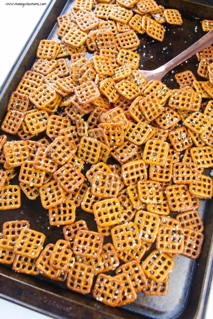 Pretzels on a baking sheet ready to be cooled and eaten.