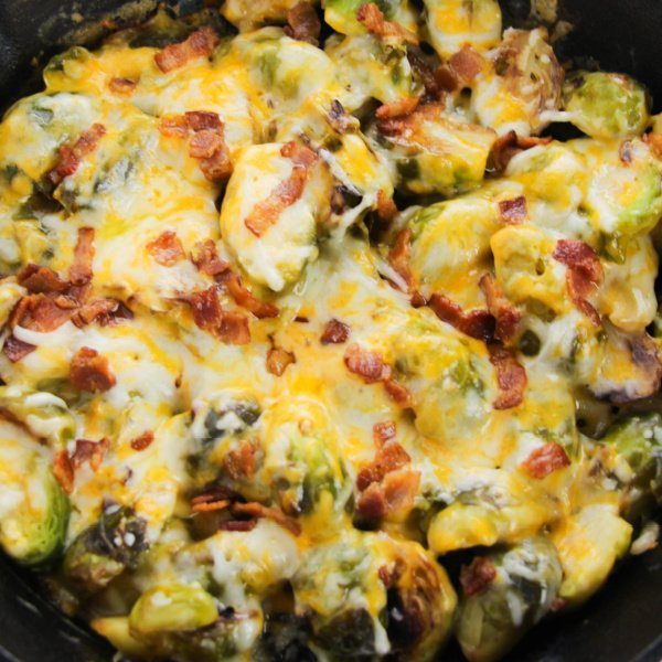 Brussels Sprouts Baked Cheese