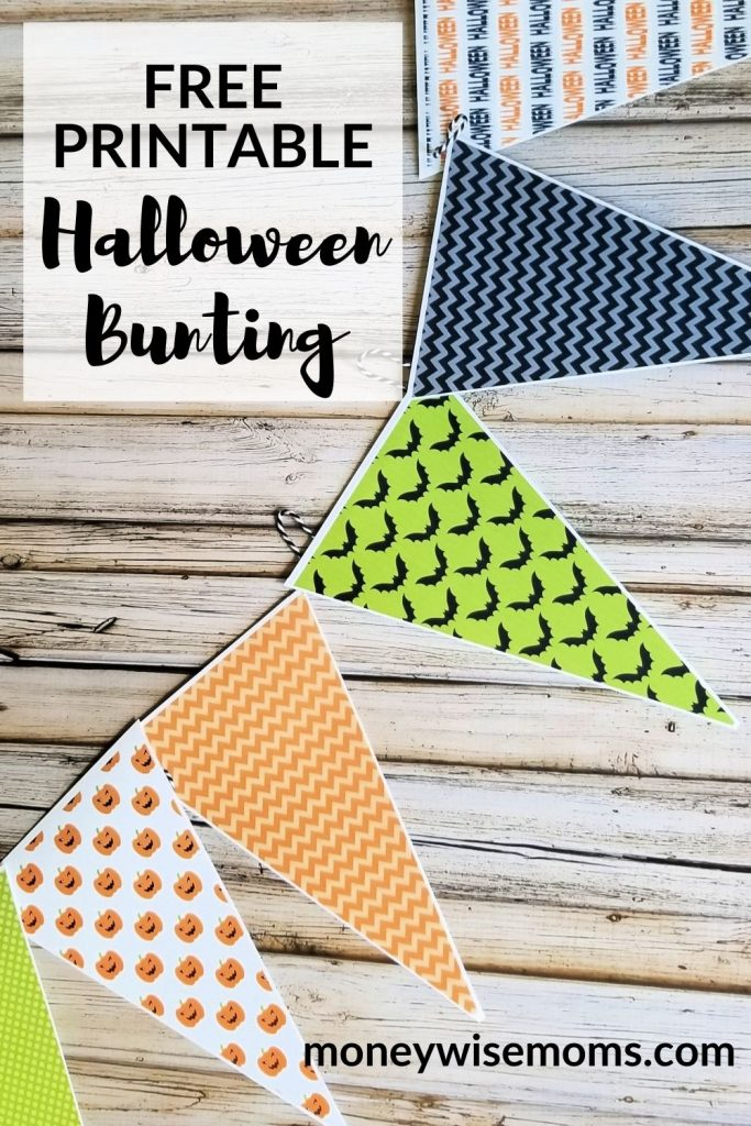 Free printable Halloween Bunting flags banner craft
