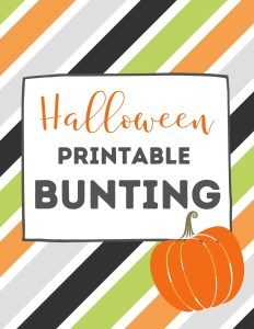 free printable Halloween decorations - halloween bunting