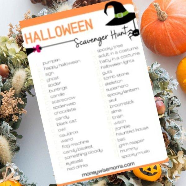 Halloween Decorations Scavenger Hunt SQ