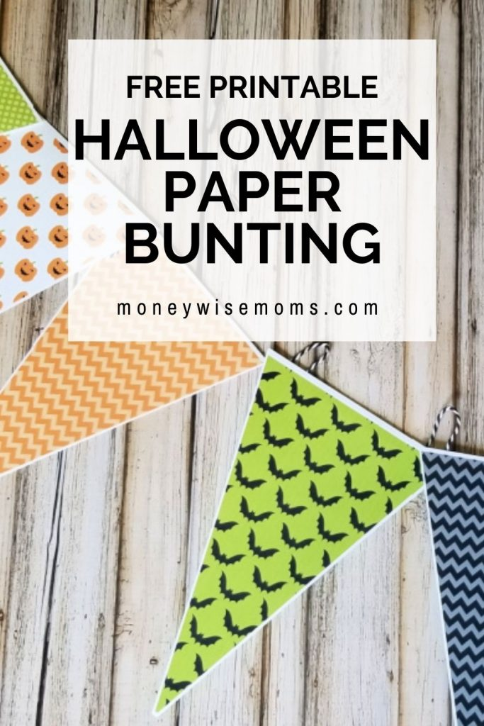 paper triangles of Halloween prints