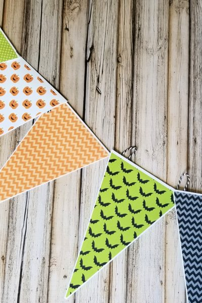 Printable Halloween Bunting for easy decorating