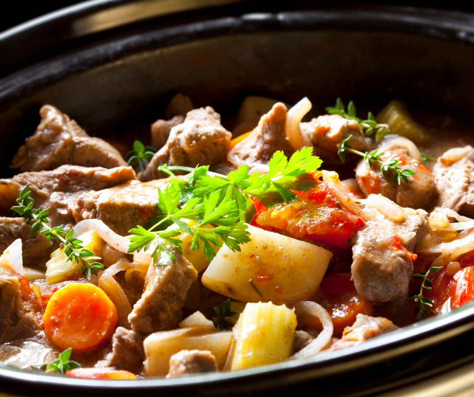 Featured image showing the beef crockpot recipes ready to eat.