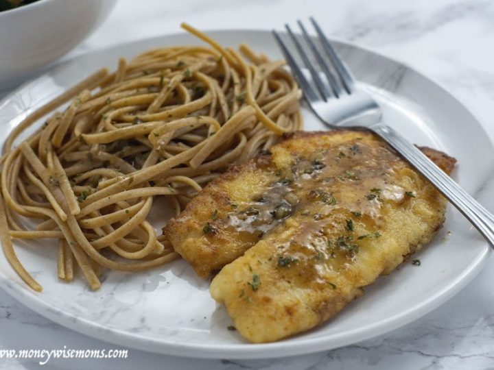 Featured image showing the finished lemon butter tilapia fillet recipe ready to eat.