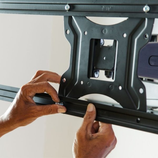 Hands on TV mount