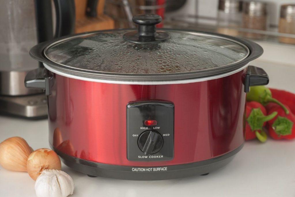Red crockpot slow cooker meals