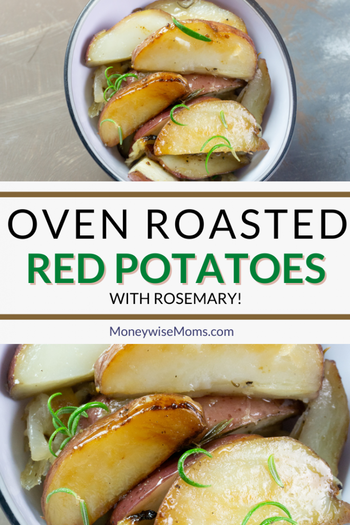 another pin showing the finished oven roasted red potatoes recipe.