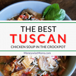 This Tuscan Chicken Soup is a new way to enjoy an old favorite. Italian flavors make for a savory, soothing soup recipe that cooks up in the crockpot.