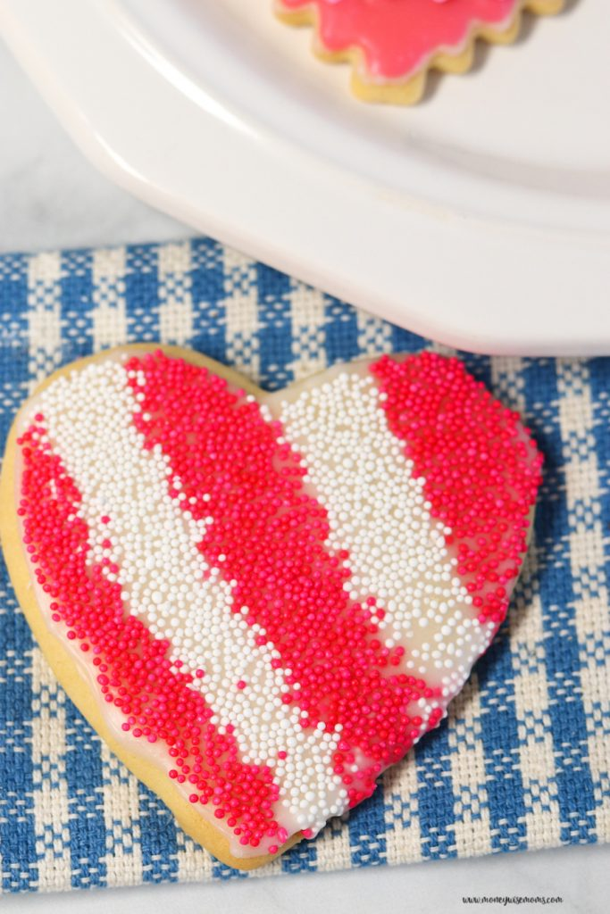 A look at one of the finished and decorated sugar cookies ready to eat.