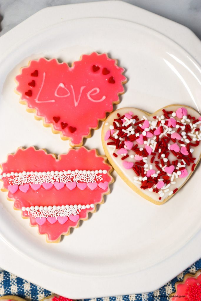 A close up of the finished cookies ready to be shared.