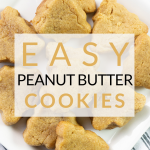 These easy 3 ingredient peanut butter cookie trees are perfect for the holidays! You can make them with any shape for a year round treat, too!