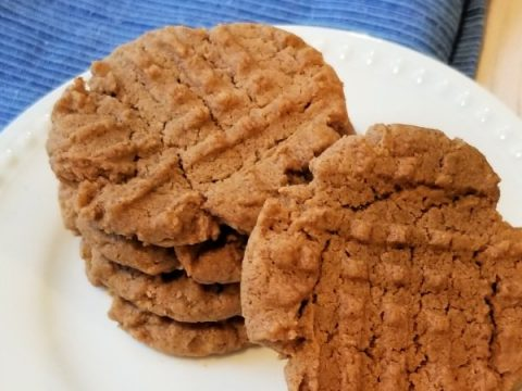 featured image showing the finished almond butter cookies ready to eat or share.