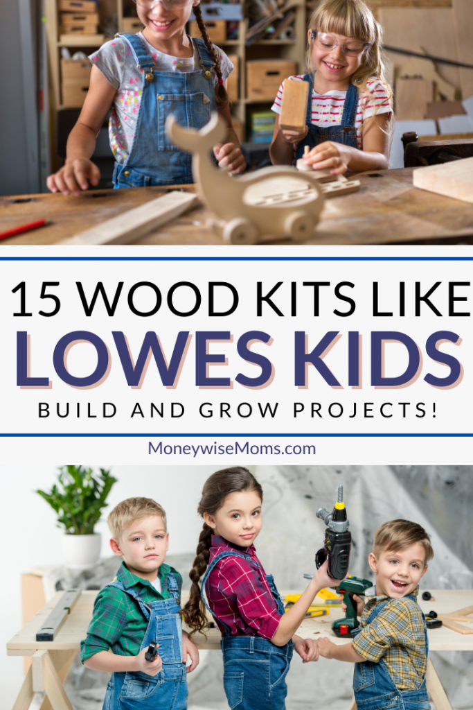 pin showing the images for 15 wood kits like lowes kids building projects.