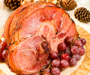 Featured image showing a full cooked ham ready to be enjoyed.