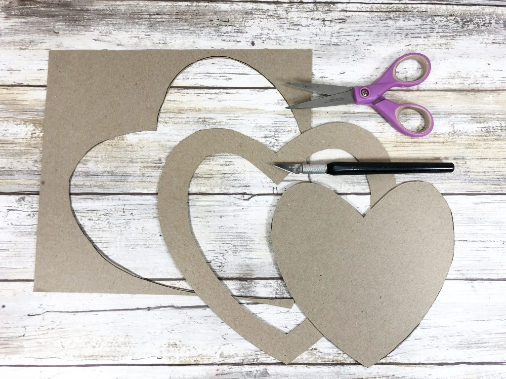 Heart pieces cut out