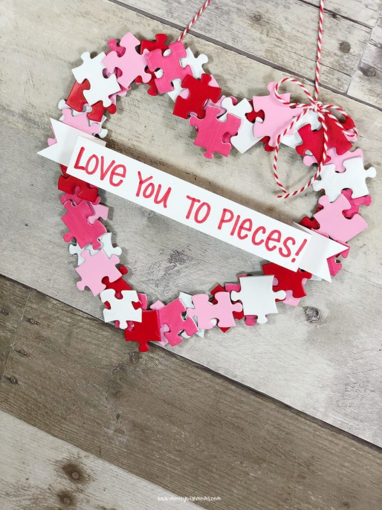 A valentine heart wreath ready to share or hang.