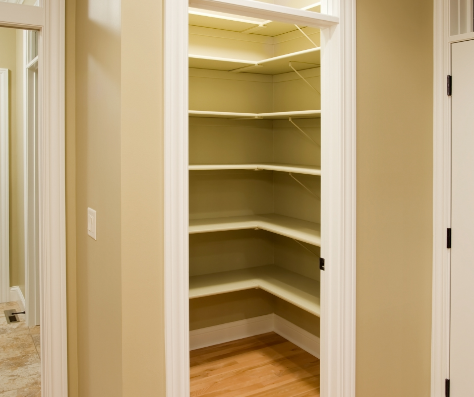 an empty pantry.