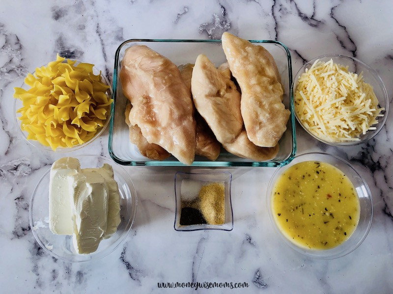 ingredients needed for slow cooker creamy chicken.