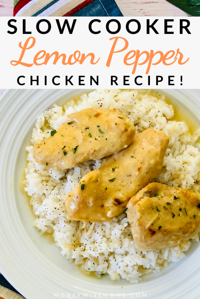 This slow cooker lemon pepper chicken recipe is simple, indulgent, and family friendly. Crockpot lemon pepper chicken is a classic dinner recipe that everyone will love.