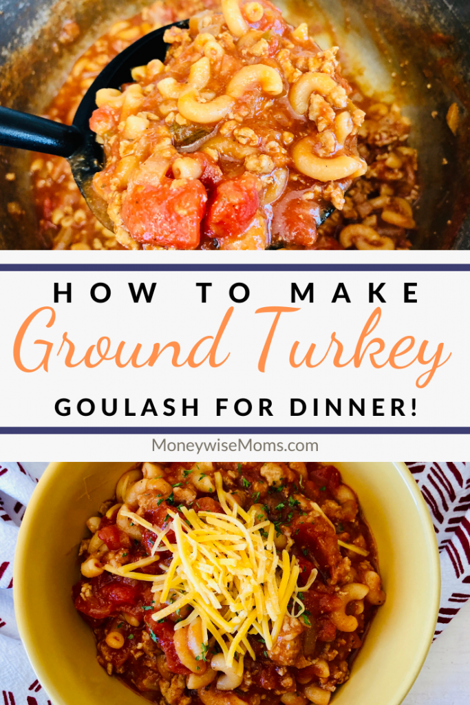 This delicious ground turkey goulash is perfect for weeknight meals. It's easy to meal prep as well! Whip some up for lunches throughout the week.