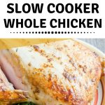 You can cook a whole chicken in the slow cooker with ease and make it tender and juicy every time! In this blog post, we'll show you how to do that step by step, plus how to use the leftovers.