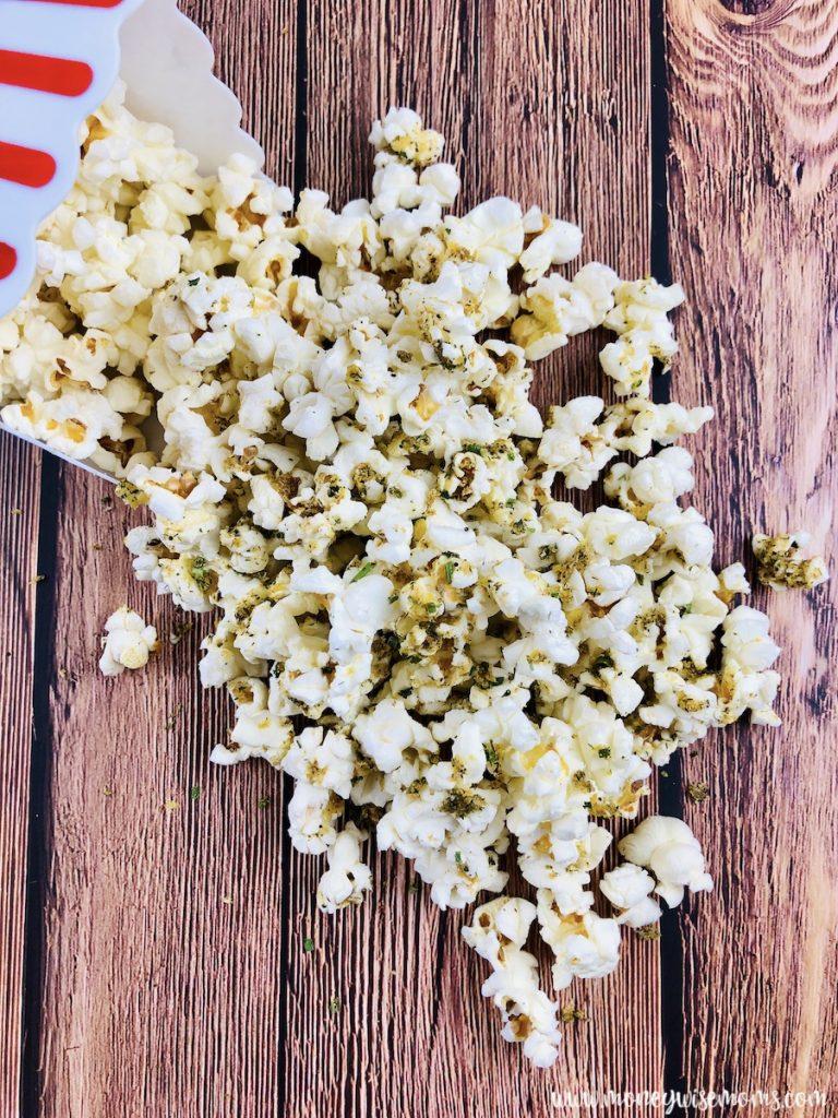 Popcorn ready to be enjoyed.