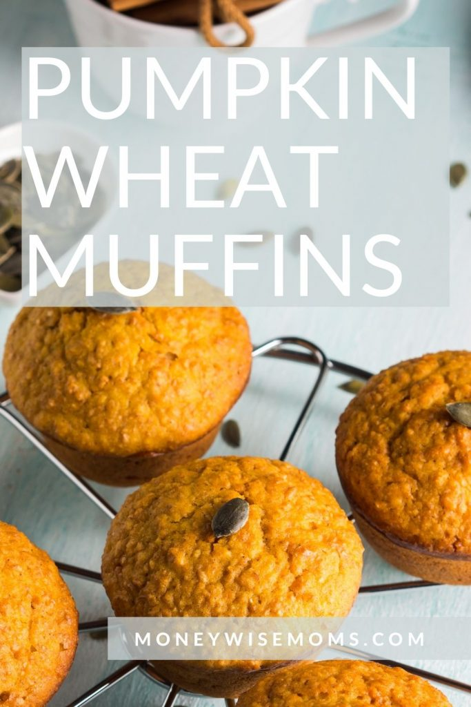 pumpkin wheat muffins on wire cooling rack