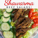 pin showing the finished shawarma beef ready to eat.