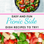 These picnic side dishes are super easy to make, delicious, and perfect for sharing. All summer long you can whip up these tasty picnic sides to share!