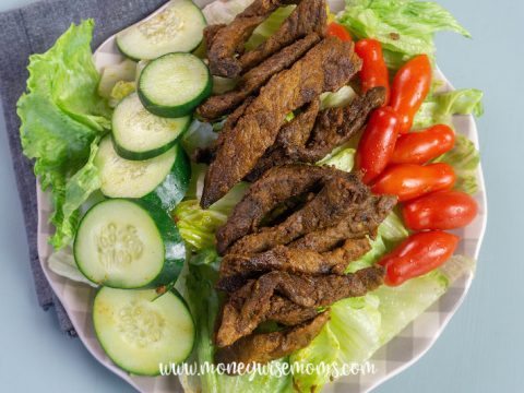Featured image showing the shawarma beef ready to eat.