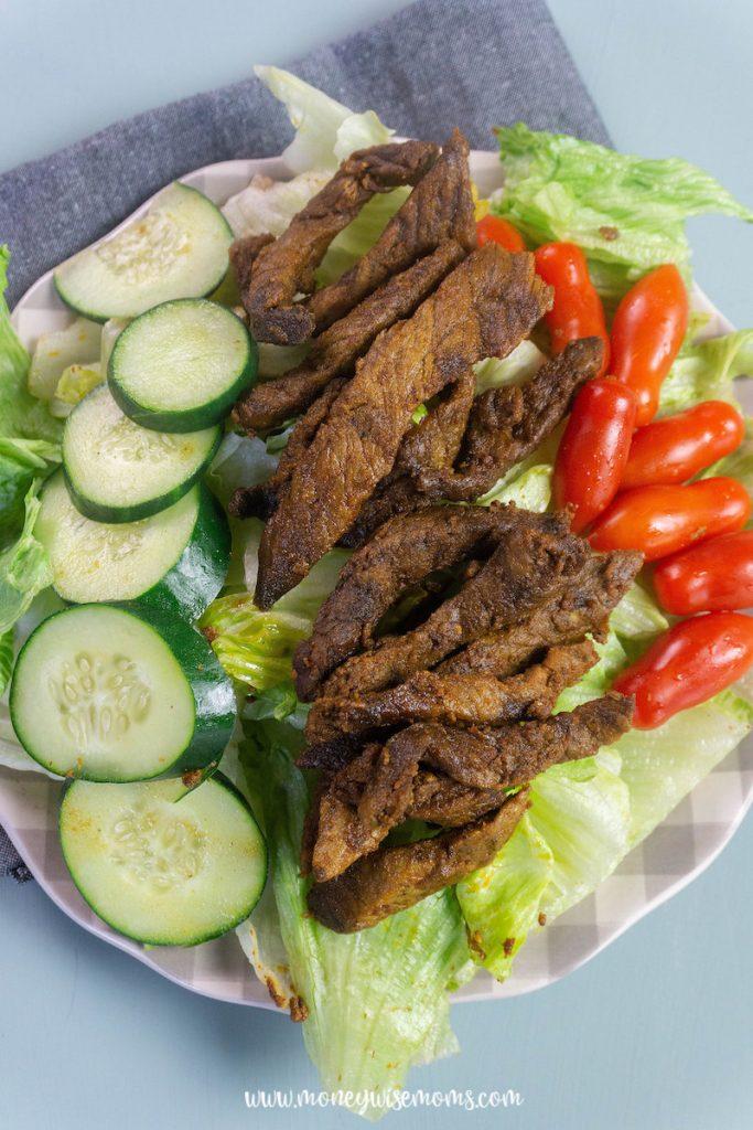 Beef shawarma ready to eat.