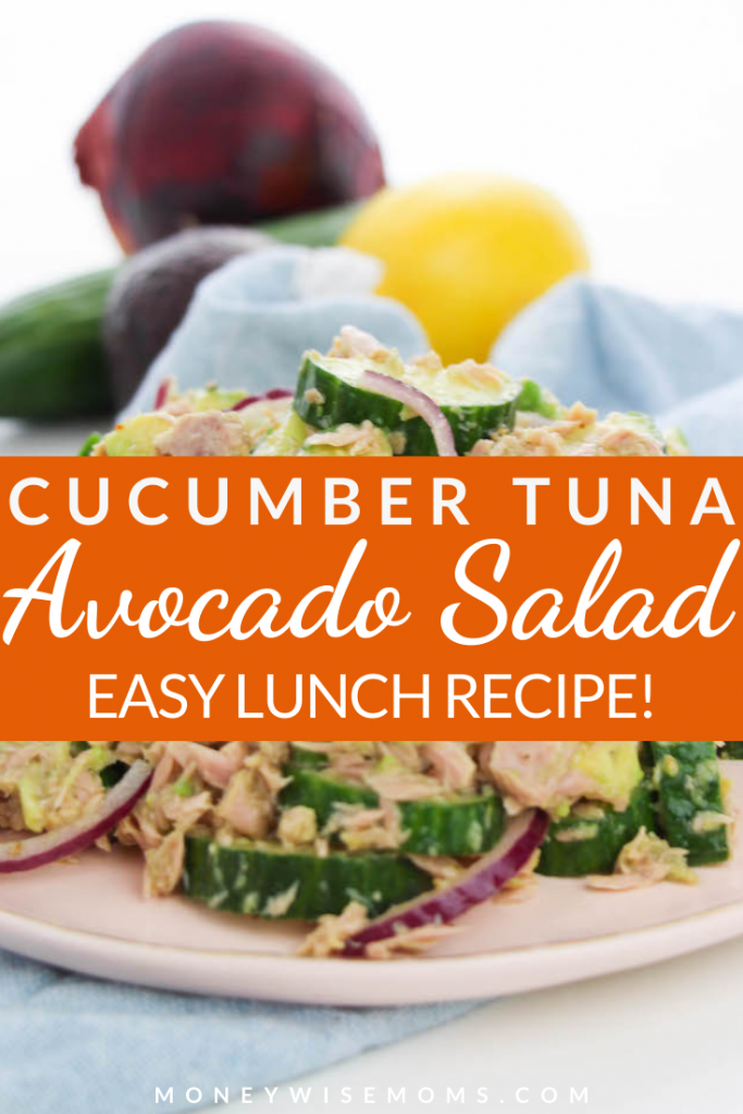 Today I'm sharing a summer favorite...tuna avocado salad recipe! This tasty cucumber tuna avocado salad is great for snacking, a quick lunch, meal prep, and more!