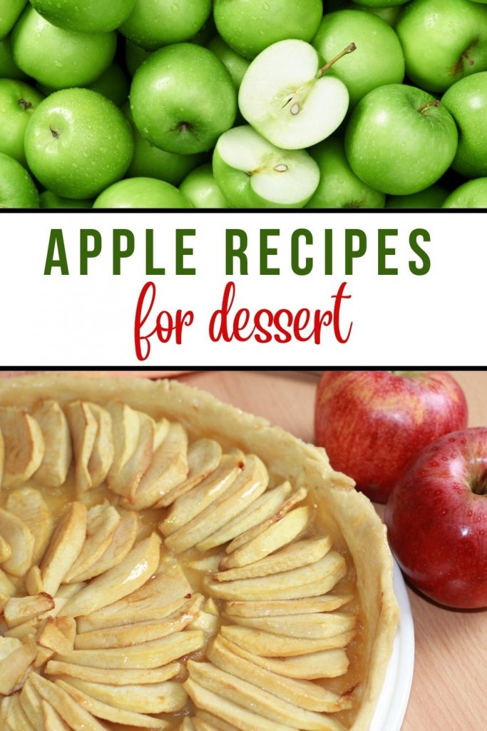 green apples plus apple galette and red apples