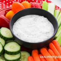 Featured image showing a full bowl of the tzatziki recipe ready to eat.
