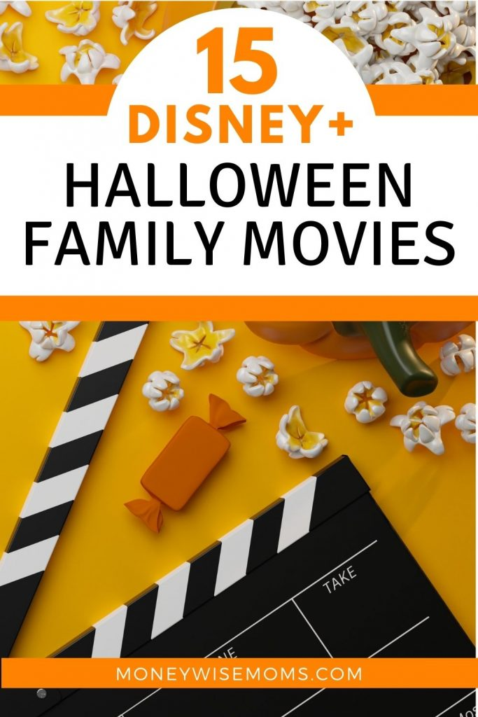 Orange background with popcorn and movie clapboard