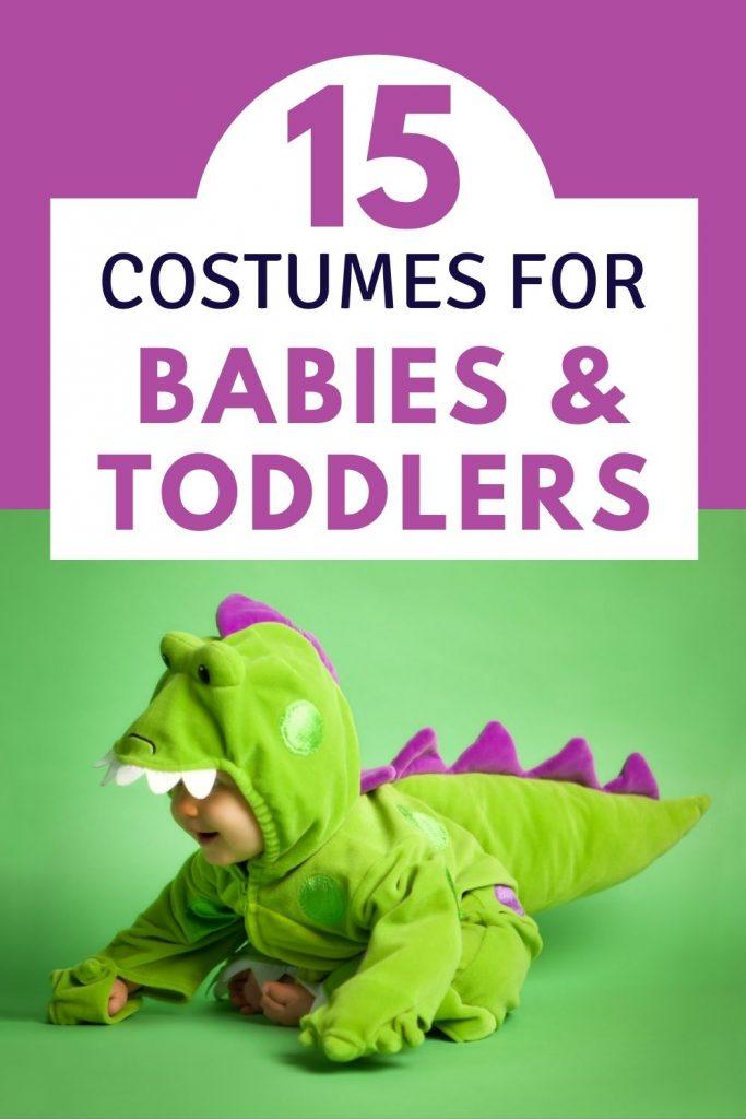 Green dinosaur costume - the best baby halloween costumes