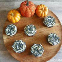 Featured image showing the finished spooky halloween brownies ready to eat.